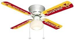 Ceiling Fan Designers 7999-ISU New NCAA IOWA STATE CYCLONES 42 in. Ceiling Fan