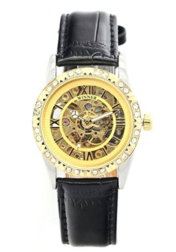tcella-womens-gold-dial-automatic-mechanical-diamant-bezel-skeleton-black-leather-watches