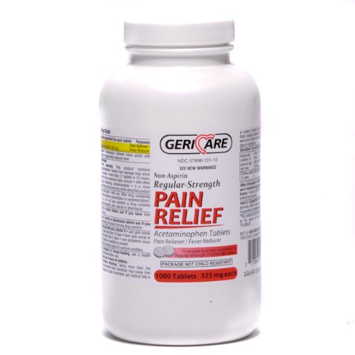 Non Aspirin Pain Reliever Tablets 1000 bottleB0006GBELW : image
