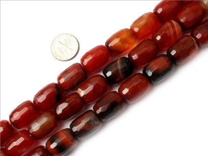 13x18mm cloumn faceted dream lace agate bead Strand 15
