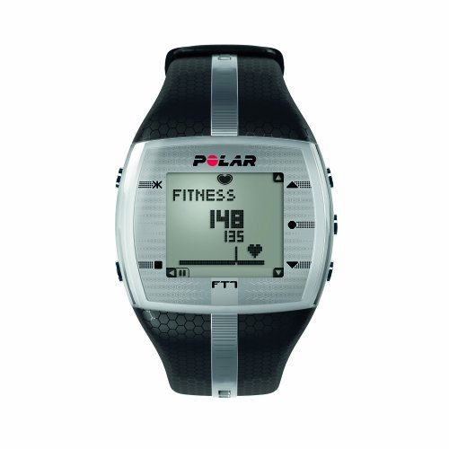 Polar FT7 Mens Heart Rate Monitor Watch (Black / Silver)