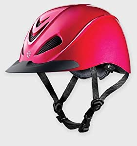 TROXEL LIBERTY PINK FUCHSIA LOW PROFILE ENGLISH & WESTERN RIDING SAFETY HELMET (MEDIUM)