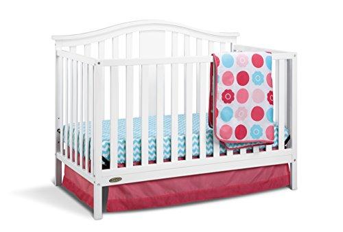 Graco Solano 4-in-1 Convertible Crib and Bonus Mattress, White (Graco Bed Frame compare prices)