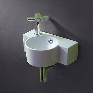 lux aqua g ste wc waschbecken zur wandmontage 4413 baumarkt. Black Bedroom Furniture Sets. Home Design Ideas