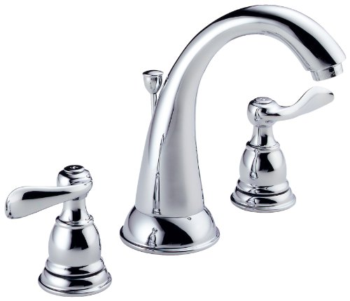 Delta Windemere B3596LF Two Handle Widespread Lavatory Faucet, Chrome (Faucets Chrome compare prices)