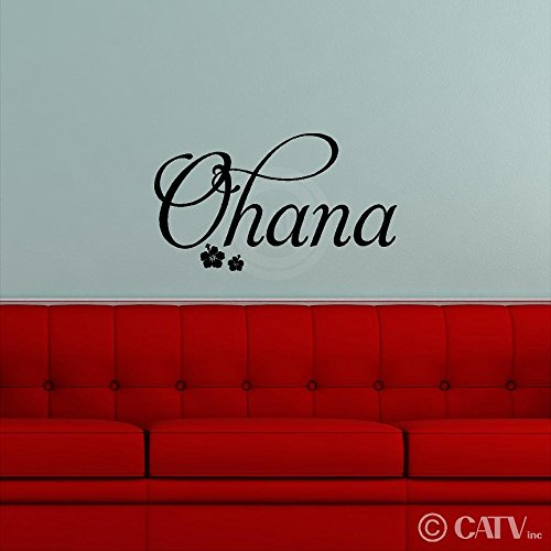 Ohana (Family) wall saying vinyl lettering art decal quote sticker home decor (Ohana Decal compare prices)