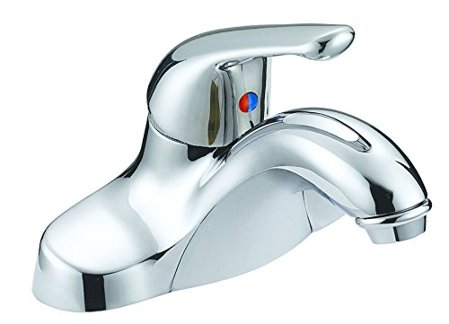 Aqua Plumb 1554010 CUPC AB1953 4-Inch Single-Handle Polished Chrome Lavatory Faucet