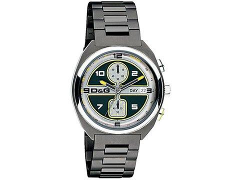D&G Dolce&Gabbana DW0302 - Reloj cronógrafo de caballero de cuarzo con correa de acero inoxidable gris (cronómetro) - sumergible a 50 metros