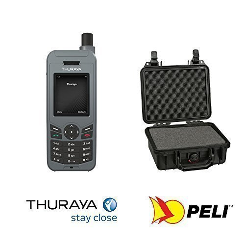 Thuraya XT LITE Telefono Satellitare con 20 minuti prepagati NOVA e Custodia Nera Peli 1200 by GTC