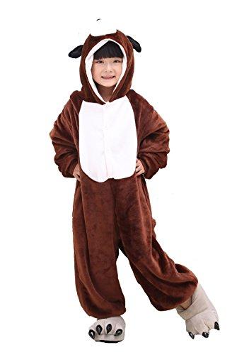 Tonwhar 2015 Unisex-child Cute Dog Pajamas Kigurumi Cosplay Costume 3d Design (105(height:45.27