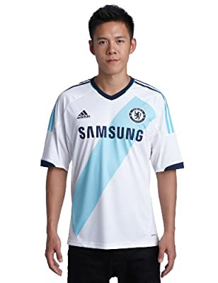 adidas Men's Chelsea Away Jersey weiß/türkis Size:XXL