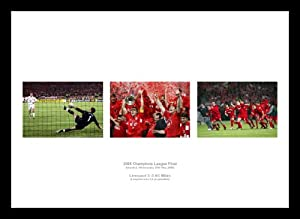 Framed Liverpool Fc 2005 Champions League Final Triple Photo Montage