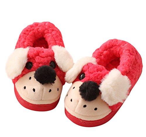 Générique bébé pantoufles d'hiver Unisex Cartoon style mignon doux souples chaussure épaissi chaud pour les enfants chausser chez maison