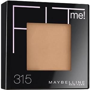 Maybelline Poudre compacte Fit Me - Fini naturel - Coloris Miel tendre (Ensemble de 2)
