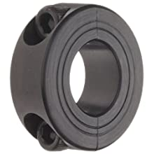 Ruland Two-Piece Clamping Shaft Collar, Black Oxide Steel, Metric