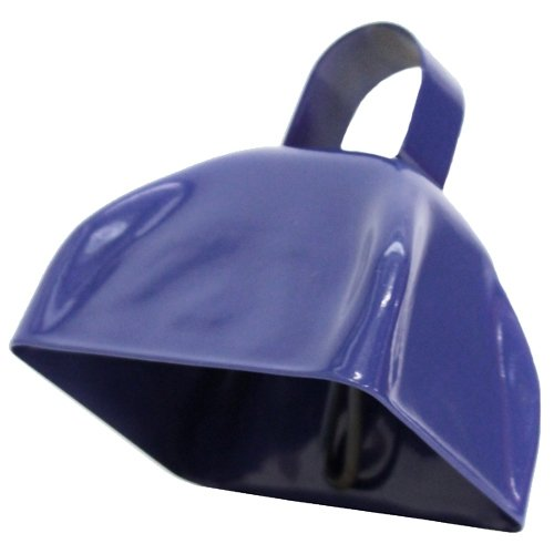 One School Spirit Metal Blue Cowbell