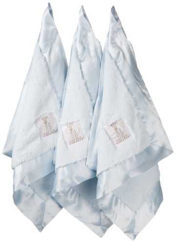 Little Giraffe Lovie Triangle Luxe Blanket Gift Set, Blue