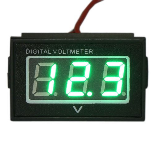 Vvw 2 Wire Dc 2.7-30V Waterproof Car Battery Condition Gauge Auto/Motorcycle Volt Meter Green Led +Waterproof