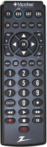 Amertac - Zenith Zb410Mb Microban 4-Device Universal Remote