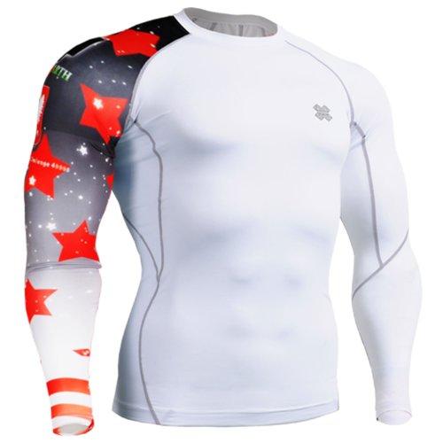 Fixgear Sports Mens Womens Compression Running Underwear Tee Shirt S–4XL