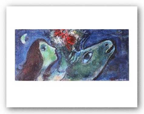 Woman with Green Donkey by Marc Chagall 12