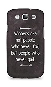 AMEZ but people who never quit Back Cover For Samsung Galaxy S3 i9300