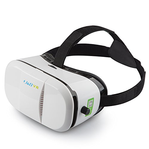 3D VR Headset, J&D 3D Virtual Reality Headset (Local and Pupil Distance Adjustable Headset for iPhone Samsung Moto LG Nexus HTC, Black/White) (Google Nexus Service Centre compare prices)