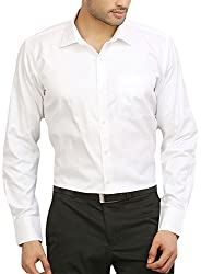ODIN Men's Button Down Casual Shirt (ODSH00020_40_White_40)