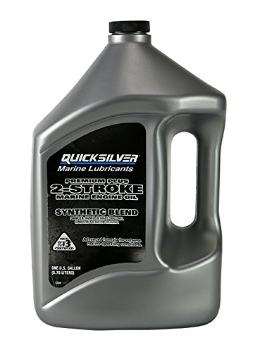 Quicksilver 27Q01 Synthetic Blend Premium Plus 2 Stroke Marine Engine Oil - 1 Gallon, Pack of 1 (Outboard 2 Cycle Oil compare prices)