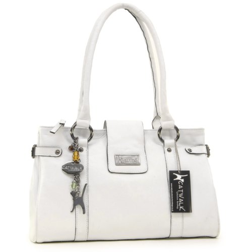 Catwalk Collection Martina Handbag - White