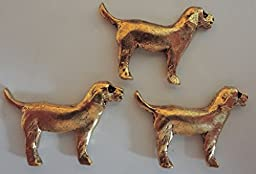 GOLDEN DOGS, SET OF 15 PUSH PINS T-532AG