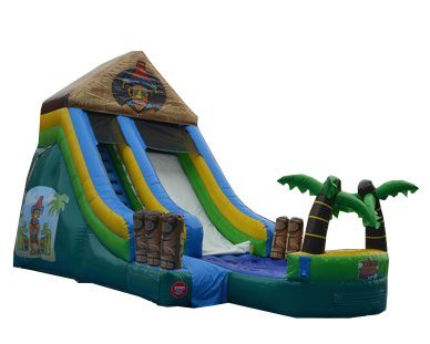 15' Tiki Island Water Slide - Wet or Dry Slide, Includes 1.5 HP Blower and Free Shipping (Tropical Island Water Table compare prices)