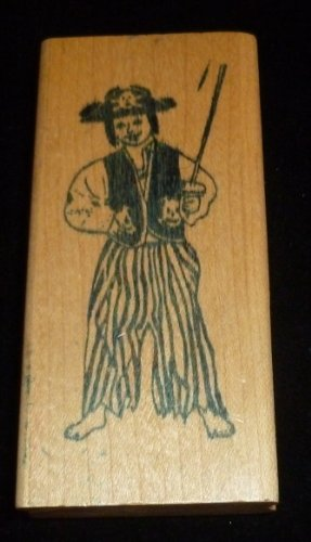 Happy Pirate Rubber Stamp