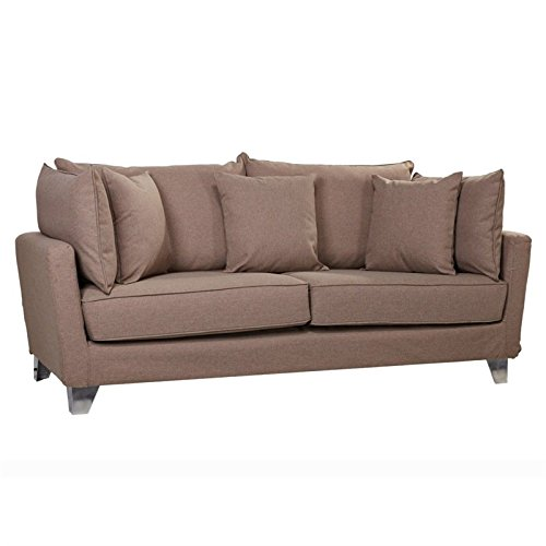 Gold Sparrow Lexington Fabric Sofa in Cappuccinio