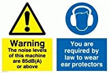 Warning The noise levels of this machine are 90 dB(A) or above You are required - Warning Sign