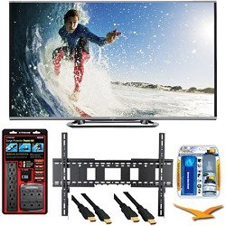 Sharp LC-80LE857U Aquos 80-Inch 3D Wifi 240Hz 1080p LED TV Plus Wall Mount Bundle