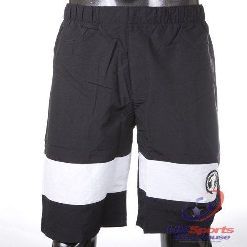dirk-bikkembergs-100-authentic-pannello-stampa-design-nero-pantaloncini-rrp-120-nero-m