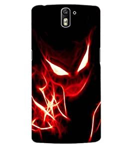 ColourCraft Flaming Eyes Design Back Case Cover for OnePlus One