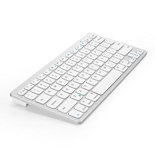 Anker® ウルトラスリム Bluetooth ワイヤレスキーボード iOS/Android/Mac/Windows に対応 ホワイト