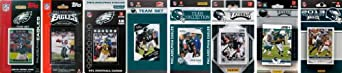 NFL Philadelphia Eagles 8 Different Licensed Trading Card Team Sets by C&I Collectables