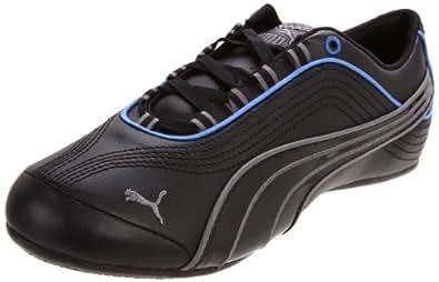PUMA Women's Soleil Leather Fashion Sneaker,Black/Steel Gray,6 B US