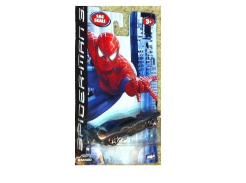 Spiderman 3 Diecast Black Spider Racer SM420 - 1