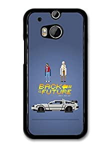 buy Amaf © Accessories Back To The Future Game Illustration Marty And Doc With Delorian Case For Htc One M8