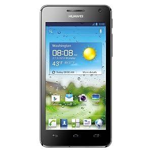 Huawei Ascend G 615 Smartphone (11,4 cm (4,5 Zoll) Touchscreen, 8 Megapixel Kamera, Android 4.0) schwarz weiß
