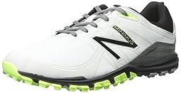 New Balance Men\'s Minimus Golf Shoe, Grey/Green, 9 D US