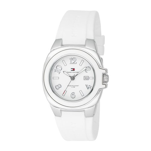 Tommy Hilfiger Women's 1780916 Sport Stainless Steel with White Plastic Bezel Watch