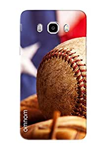 Omnam Cricket Ball Closeup Effect Printed Designer Back Cover Case For Samsung Galalxy J5 (2016)