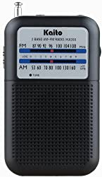 Kaito KA200 Pocket AM/FM Radio Black