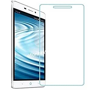 SNOOGG PACK OF 7 lyf Water 7 4G LTE Smart Phone, Gold Clear Screen Guard Toughened Glass