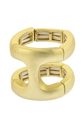 The Jewel Rack Double Tube Ring (Matted Gold)